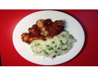 Kentucky Bourbon Wings (Chicken, Rice)