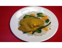 Curried Fish (Rice and Veg)