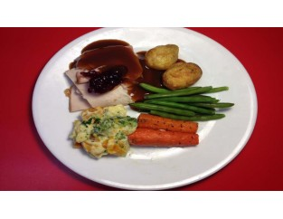 Roast Turkey Breast & Ham  (Veg)